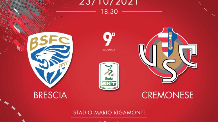 LIVE Brescia-Cremonese dalle 18.30 su CuoreGrigiorosso.com